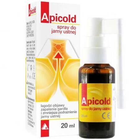 Apicold spray do jamy ustnej z propolisem 20ml