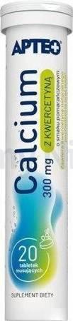 Calcium 300 z kwercetyną APTEO 20 tabletek musujących