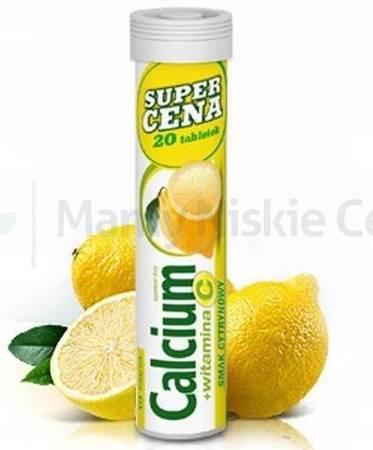 Calcium + Vit.C smak cytyrynow 20 tabletek musujących
