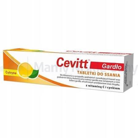 Cevitt Gardło cytryna 20 tabletek