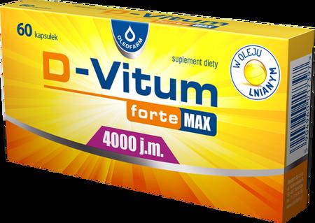 D-Vitum Forte Max 4000 j.m. 60 kapsułek