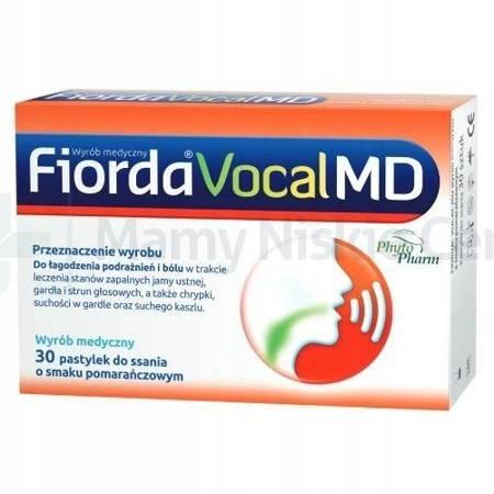 Fiorda Vocal MD smak pomarańczowy 30 pastek