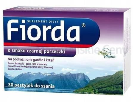 Fiorda smak porzeczkowy 30 pastylek