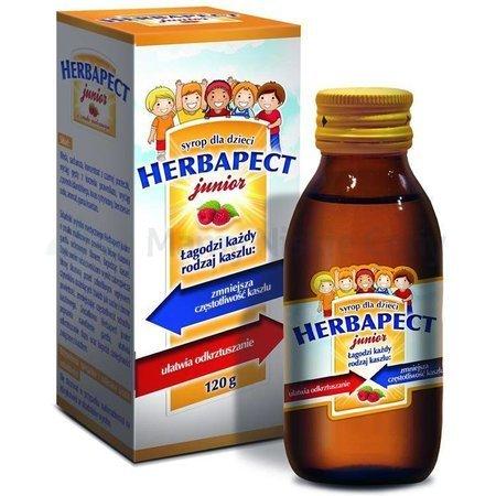 HERBAPECT JUNIOR syrop malinowy 120g