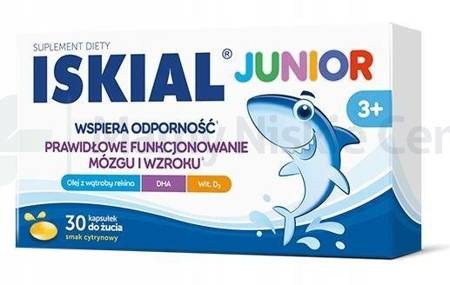 Iskial Junior kapsułki do żucia 30 kapsułek