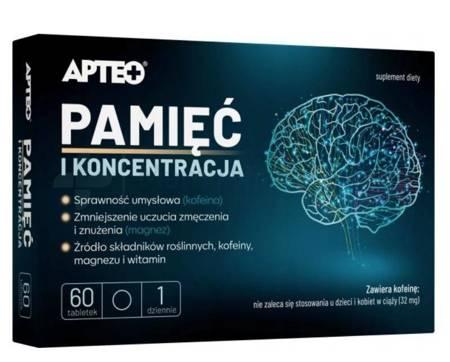 Pamięć i koncentracja APTEO 60 tabletek